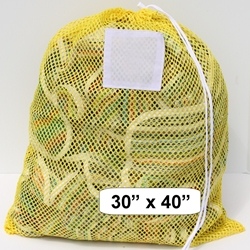 "Large Mesh Net Bag Yellow 30"" x 40"""