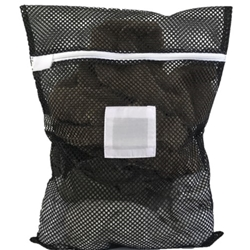 Black Zipper Mesh Laundry Bag